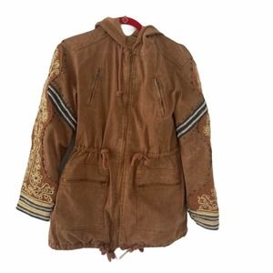 Free People Golden Quills Military Parka XS